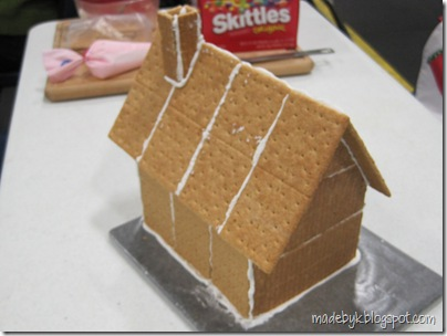 Made By K Graham Cracker Gingerbread House