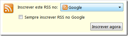 Assinar feed no Google Reader