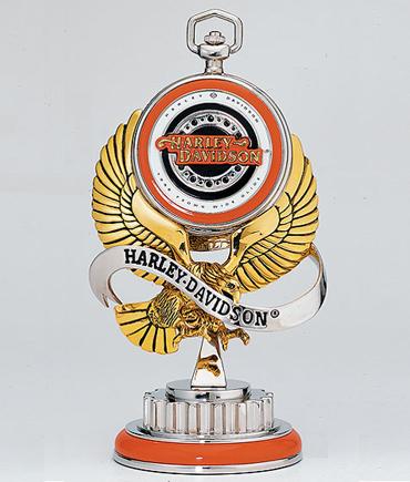 Harley Davidson Dyna Wide Glide Pocket Watch w Stand