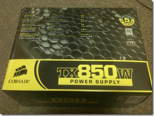 Corsair TX850 Package