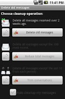 Screenshot of Delete old messages
