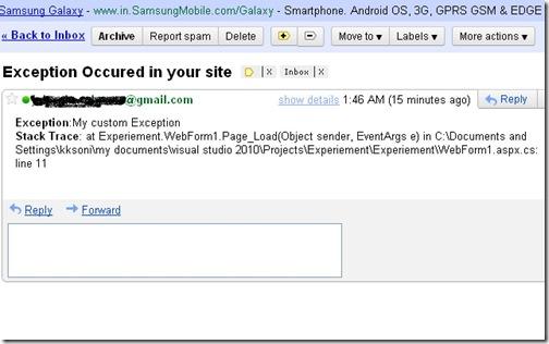 Error Handling in ASP.NET