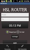 Screenshot of HSL Router