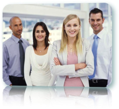 Professional team of people look to payday loans for help.