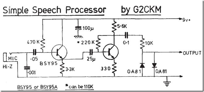 Radio Circuits Blog: Simple Speech Processor for SSB rig
