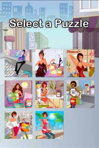 Shopping Girl Puzzle- screenshot