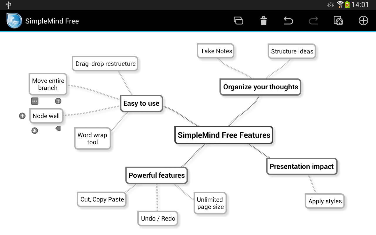 SimpleMind Free mind mapping - screenshot