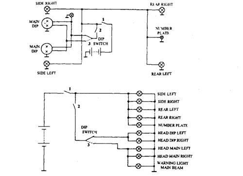 automotive lighting system wiring diagram automotive lighting circuit automobile on automotive lighting system wiring diagram
