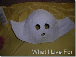 Paint your paper mache ghost