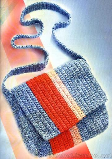 Вязанная крючком сумочка (полосатая).  Мастер: Бояринова АлС'на.