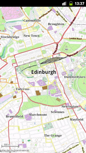 Edinburgh Offline City Map