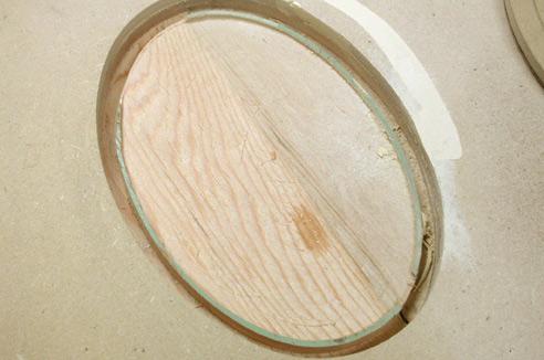 An Oval Hand Mirror