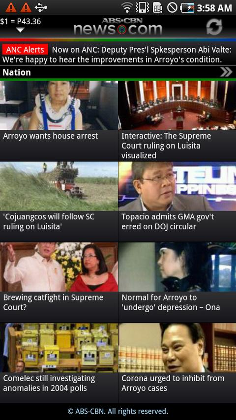 ABS-CBN News - screenshot