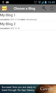 BlogIt! - screenshot thumbnail