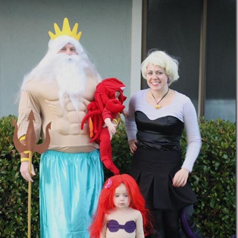 ideas para un disfraz casero familiar de la Sirenita