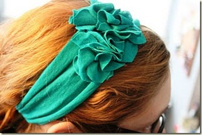 Fabric Bows and More: T-Shirt Flower Headband by A Law ...