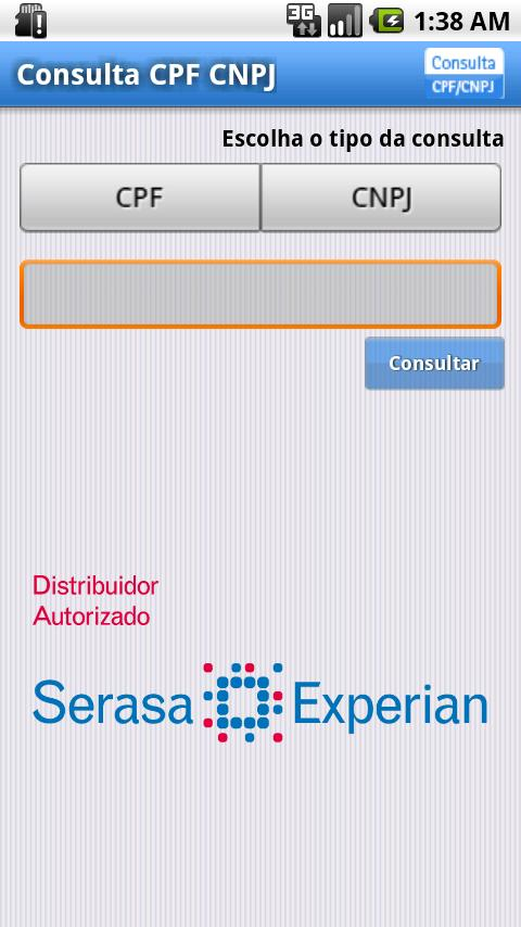 Consulta CPF / CNPJ - screenshot