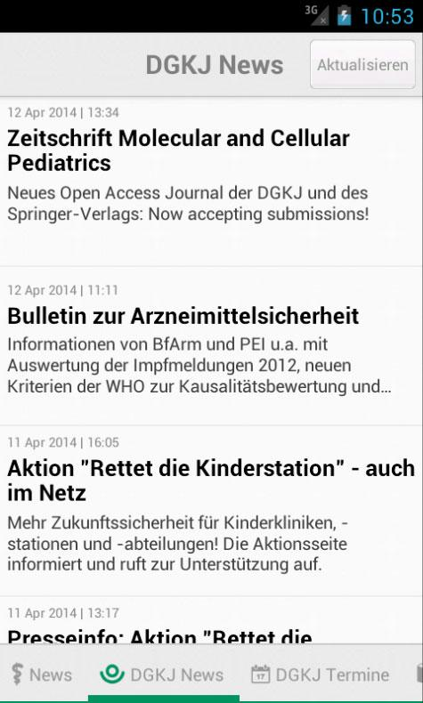 Pädiatrie News- screenshot