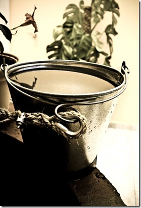 balde com agua
