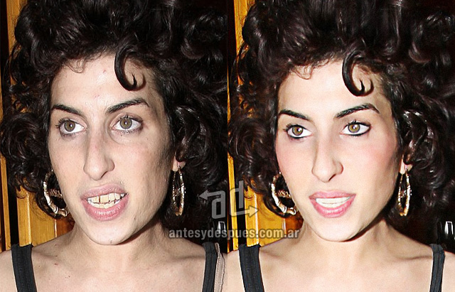 Amy Winehouse sin Photoshop