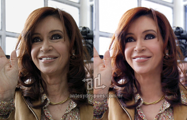 Cristina Kirchner without Photoshop