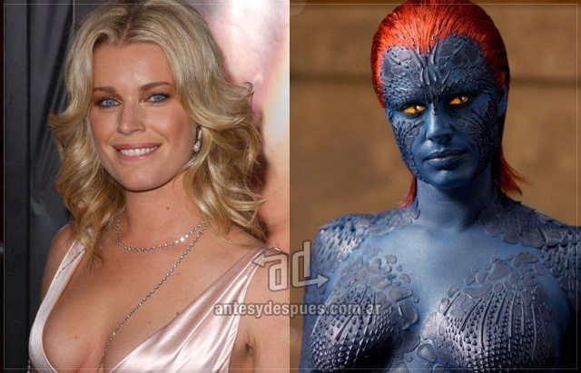 Rebecca Romijn Stamos behind the mask