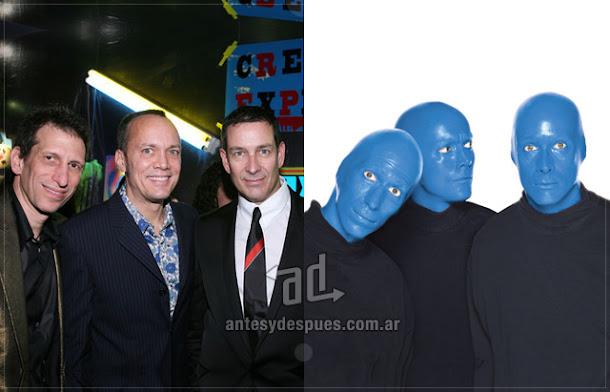Blue Man Group sin máscara