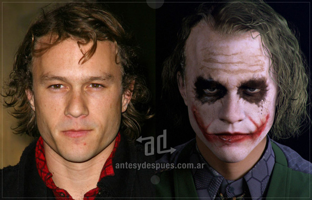 Heath Ledger behind the mask