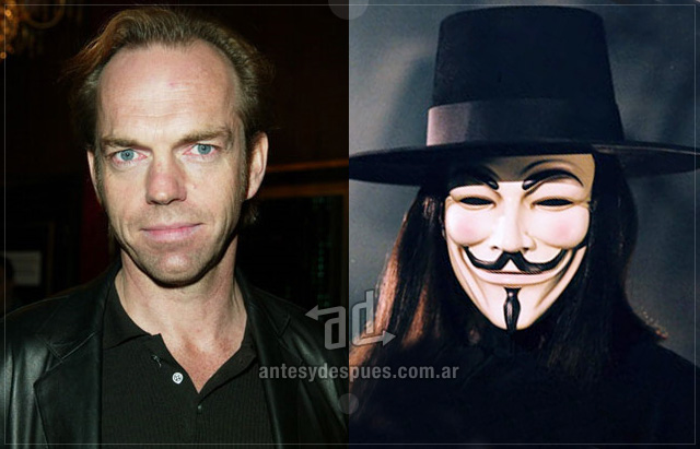 Hugo Weaving behind the mask