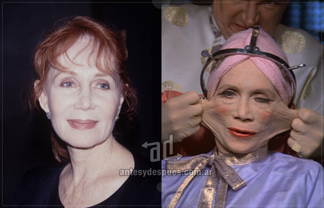 Katherine Helmond behind the mask