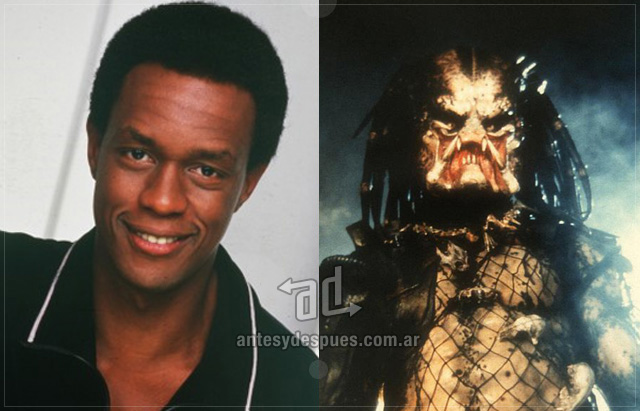 Kevin Peter Hall behind the mask