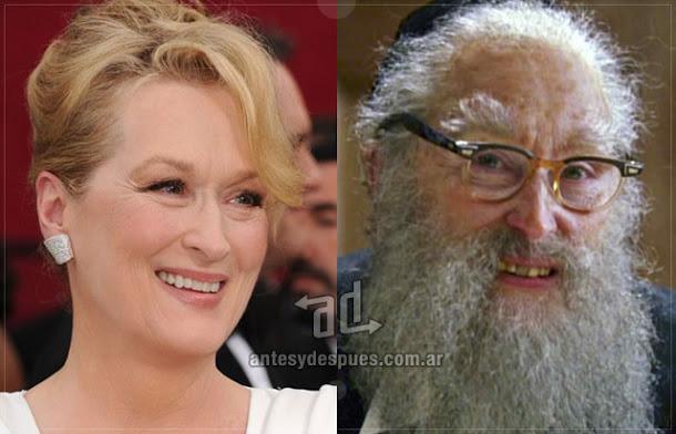 Meryl Streep sin máscara