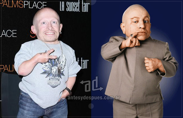 Verne Troyer behind the mask