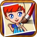 Coloring Book - Princess icon
