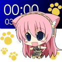 Chibi Luka Clock Widget (2x4) icon
