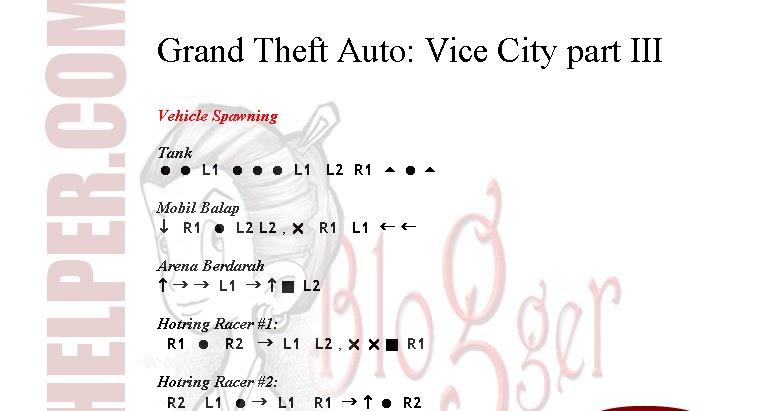 Kode Gta Vice City Ps2 ~ Application And Software