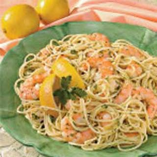 Garlic Shrimp Spaghetti.