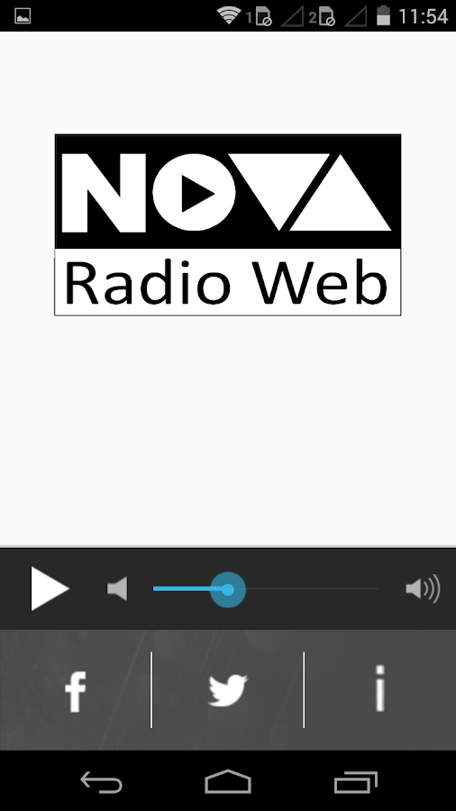 Nova Rádio Web- screenshot
