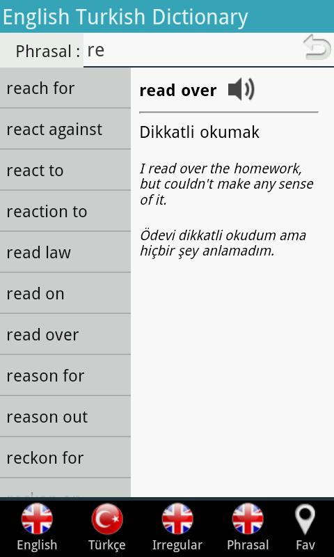 İngilizce Türkçe Sözlük - screenshot