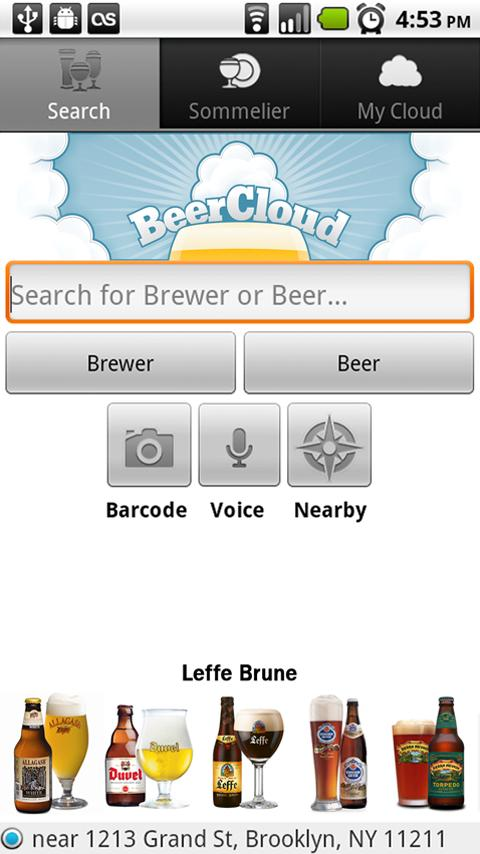 BeerCloud - screenshot
