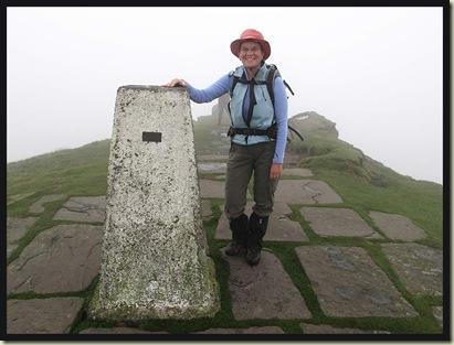 Susan on the summit of Shutlingsloe