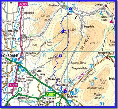 The route from Dent to Ingleton