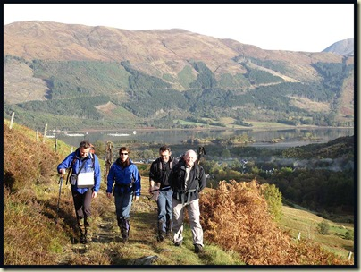 Setting off - above Ballachulish