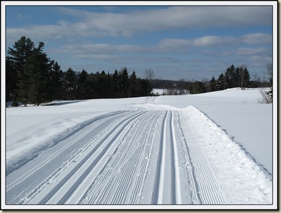 Trail 53 near Wakefield - freshly groomed on 4/2/11