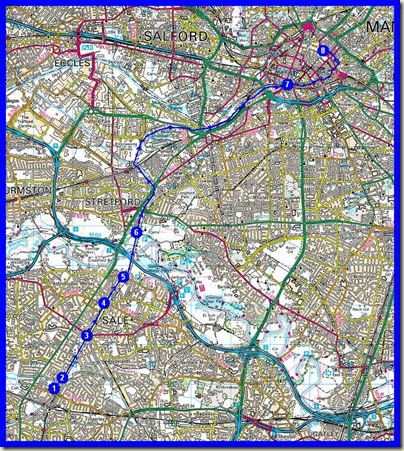 Our route - 14km, 2.75 hours