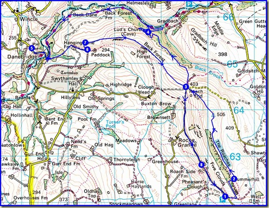 Our route - 17km, 690 metres ascent, 5 hours