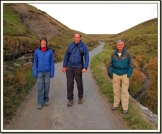 Sue, Paul and Graham near Knotbury