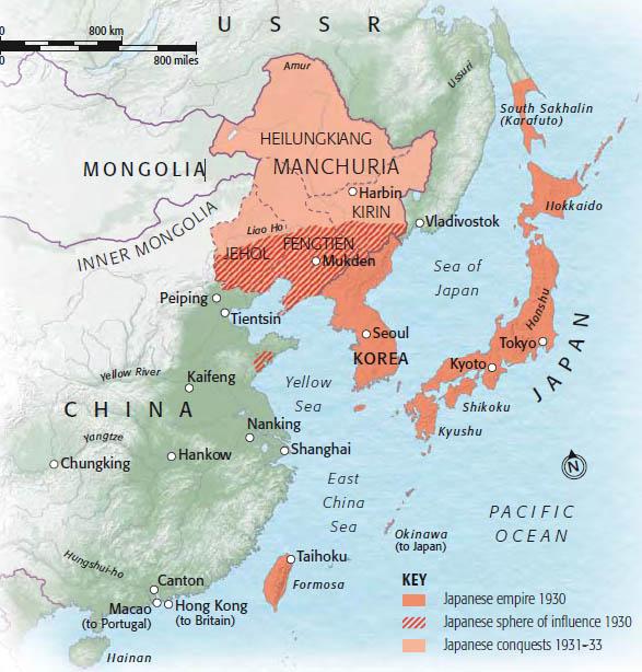 Resultado de imagen de japon 1931 mapa