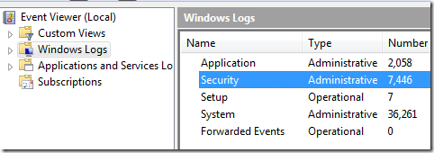 how to clear the event log in windows 7