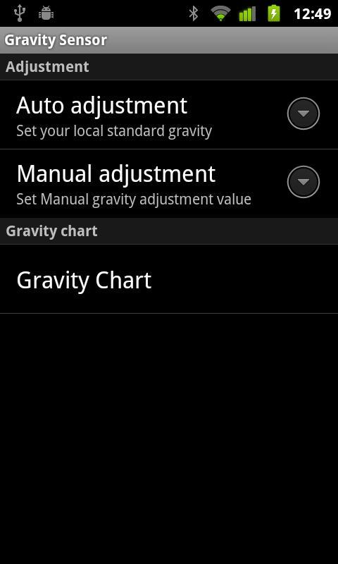 Gravity meter- screenshot